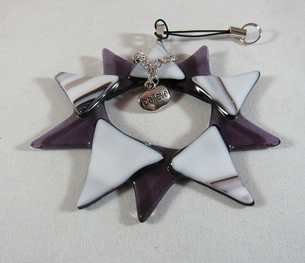 Purple and White Believe Star