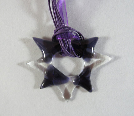 Purple and Clear Star Pendant