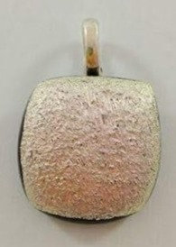 Silver with Red Tones Dichroic Pendant