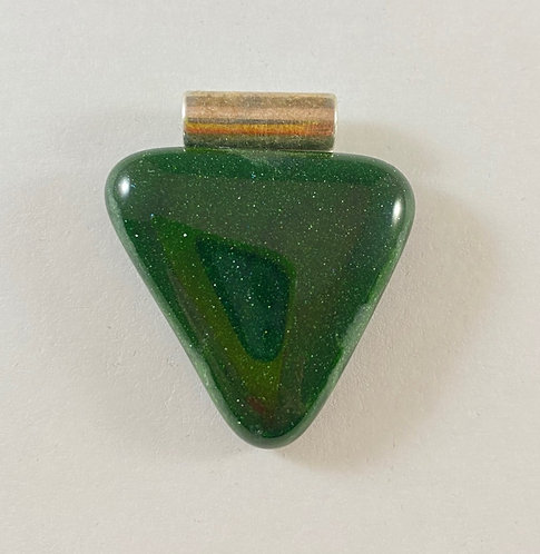 Green Triangle Pendant