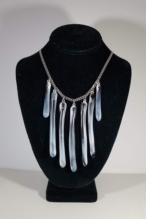 Black and White 7 Glass Necklace
