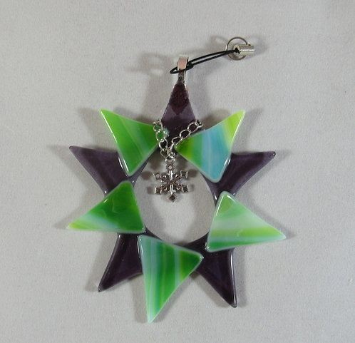 Purple and Green Star within a Star