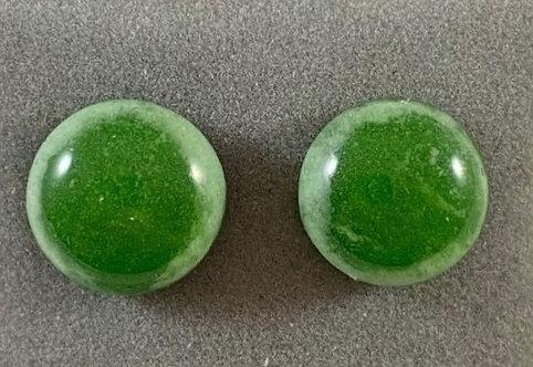 Green Fish Eye Earrings