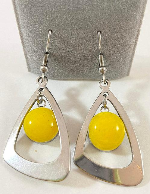 Yellow Hanging Earrings