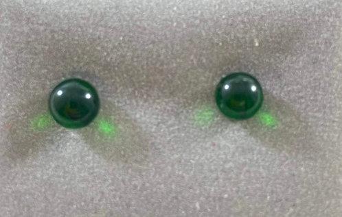 Green Clear Earrings