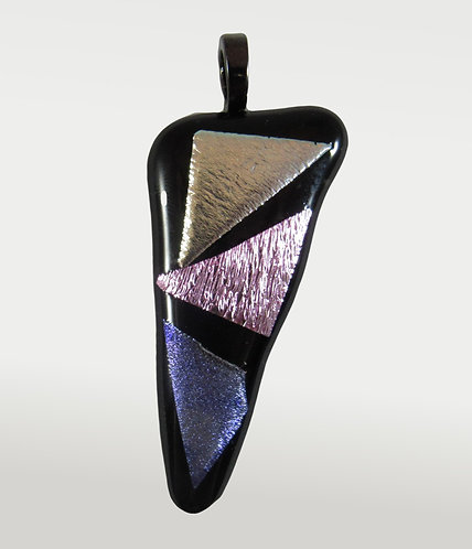 Sparkly Dichroic Triangle Pendant