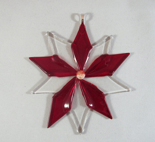 Clear and Red Star