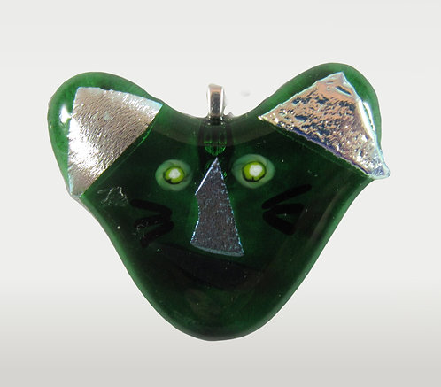 Green with Envy Kitty Pendant