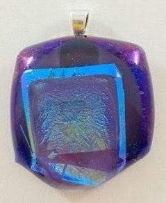 Blue Purple Gold Pendant