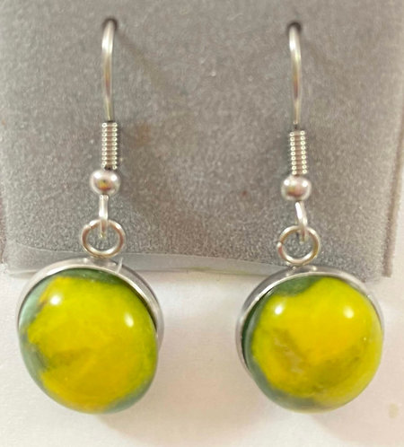 Bright Yellow Hanging Earrings