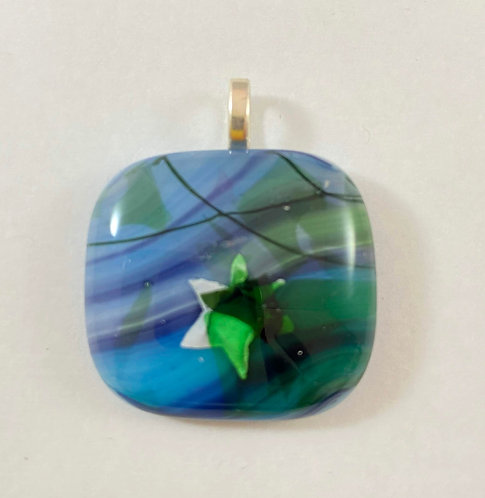 Green White and Blue Pendant