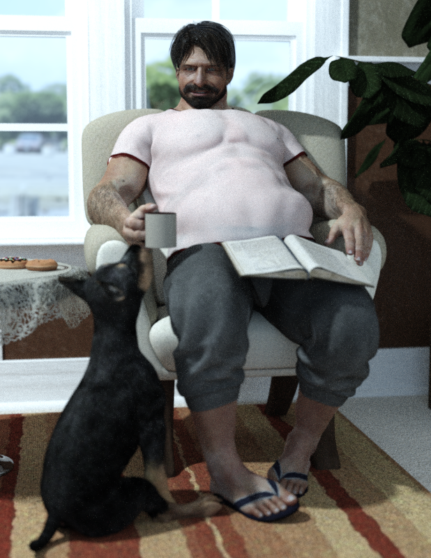 Yago with dog