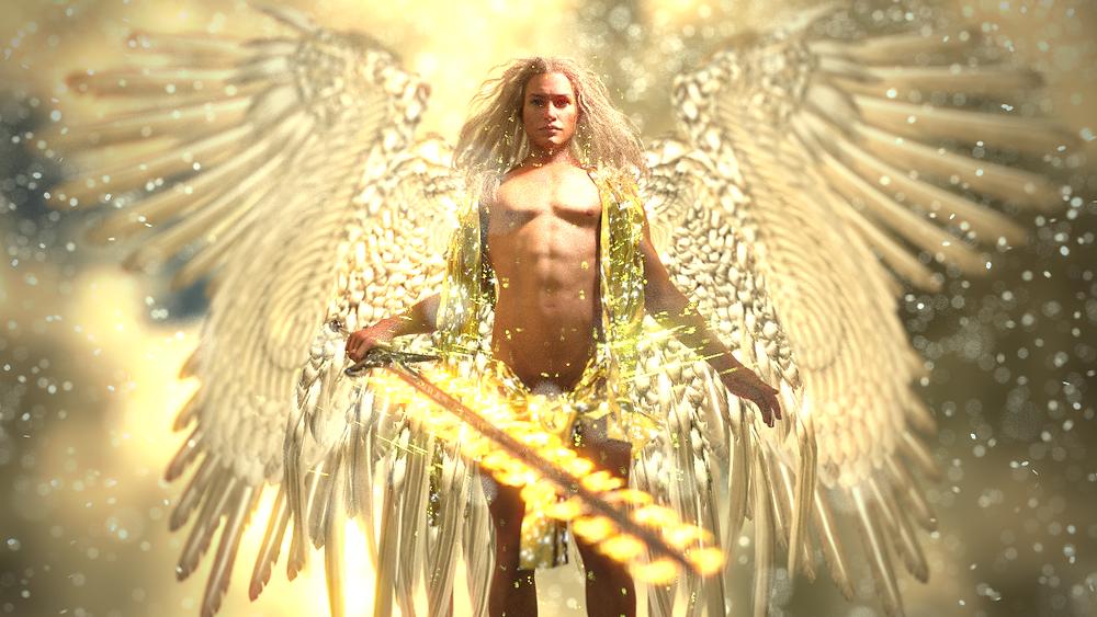 大天使ミカエルさまの3Dイラスト・レンダリング