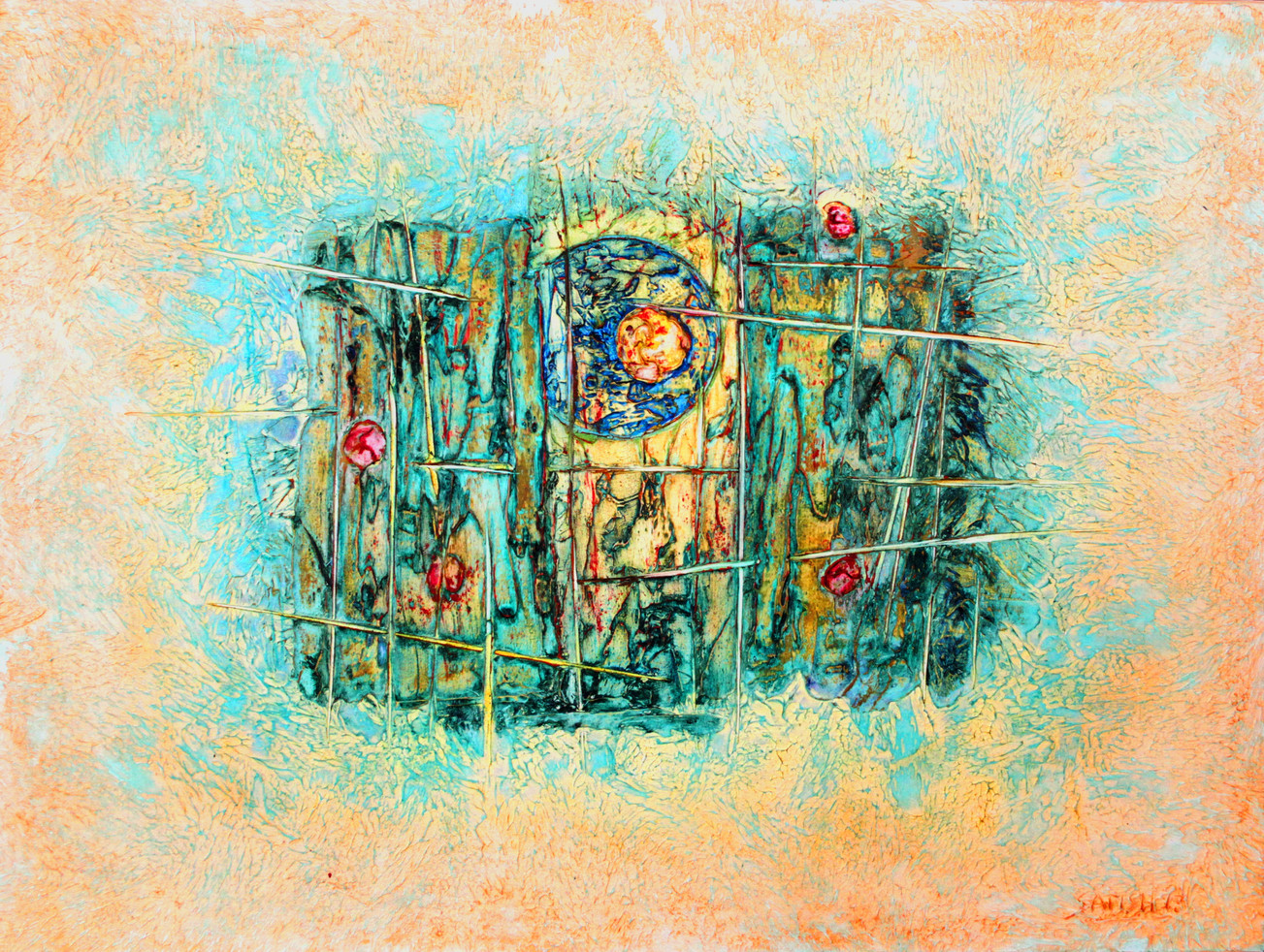 Urbanlights #32, Mixed Media on Canvas, 2013