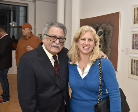 Satish Joshi photographed with Yonkers Commissioner Wilson Kimball