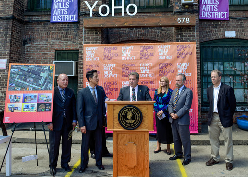 Mayor Spano announcing the kick-off of YAW 2015