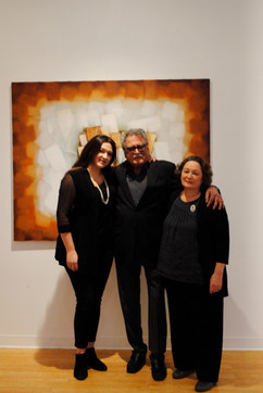 Satish Joshi photographed with wife Terry and daughter Amanda