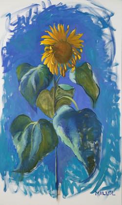 """Sunflowers in Ultramarine"""