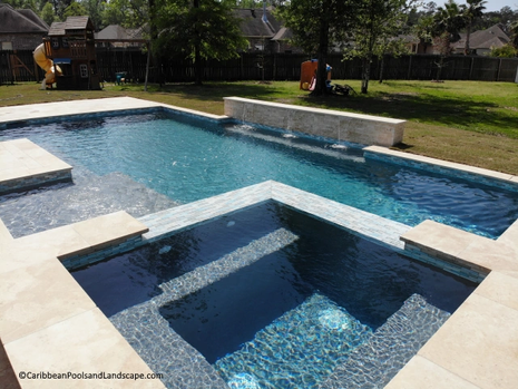 Geometric Pool with Ledge and Spa.webp