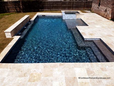 Geometric Pool  Spa Bubbler Ledge.webp