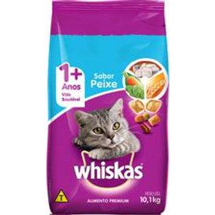Ração Whiskas para Gatos Adultos Sabor Peixe - 10 kg