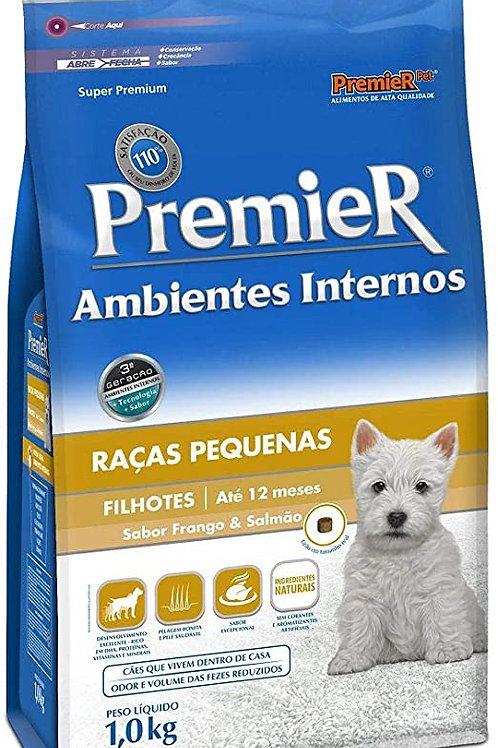 Ração Premier p Cães Filhotes de Raças Pequenas Ambientes Internos Sabor Frango