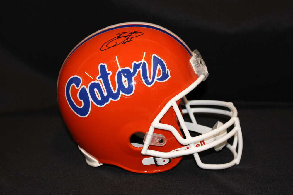 EMMITT SMITH SIGNED FULL SIZE REPLICA FLORIDA GATORS HELMET