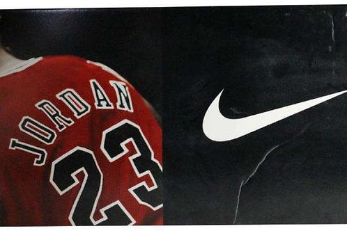 "MICHAEL JORDAN NIKE 48"" x 23"" ADVERTISEMENT BOARD CHICAGO BULLS GREAT PC910"