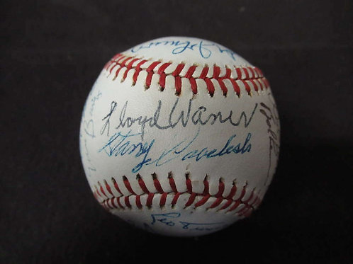 MLB HALL OF FAMER SIGNED AUTO OALB BASEBALL 22 SIGS SATCHEL PAIGE JSA LOA BL515