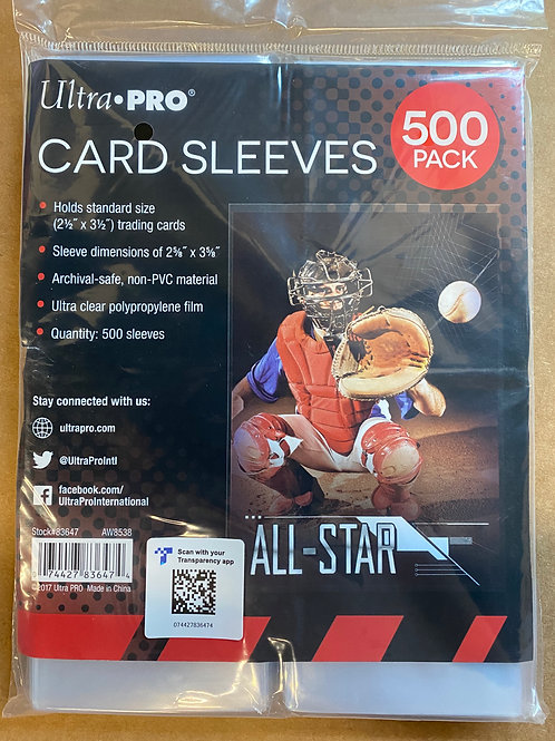 500 Pack Ultra Pro Card Sleeves SU562