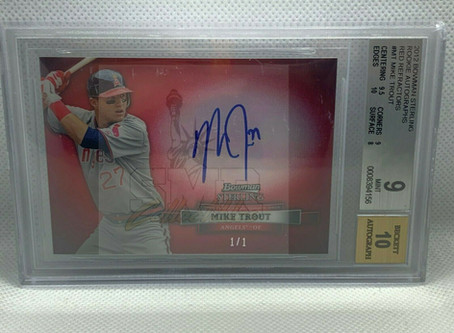Mike Trout Autograph Rookie Card 1/1