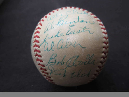 1950 CLEVELAND INDIANS SIGNED AUTO AUTOGRAPH BASEBALL JSA LOA 29 SIGS BB723