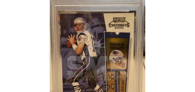 2000 Playoff Contenders Tom Brady #144 Rookie Card Auto PSA Authentic Auto 10