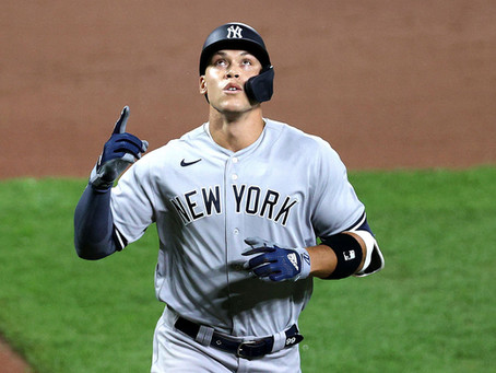 Aaron Judge Drills another HR to lift the Yankees Past Baltimore.