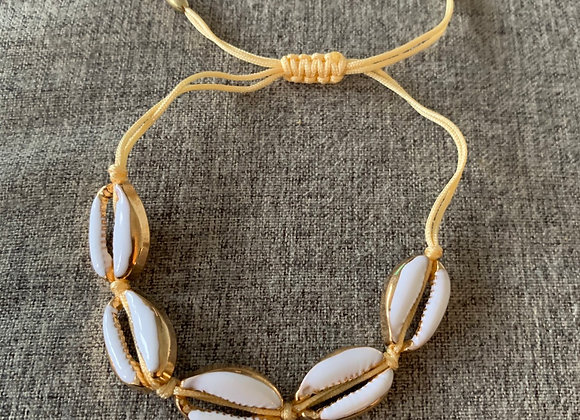Armband/enkelband maui schelpjes