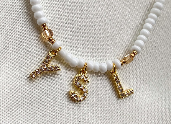 Sand white YSL necklace