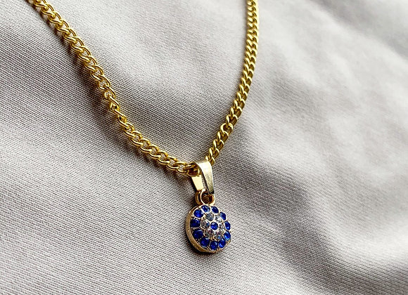 Handmade necklace blue eye