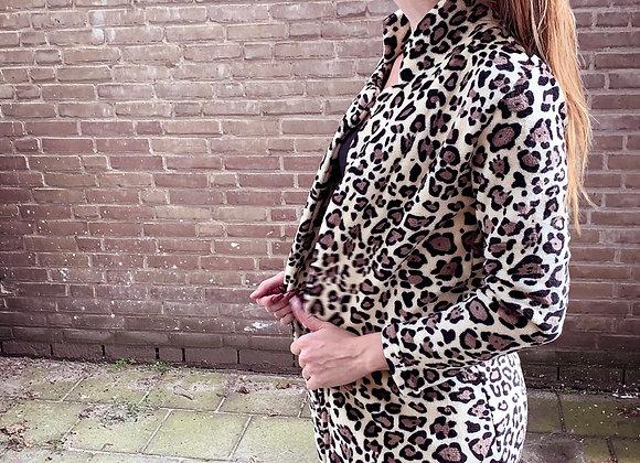 Fleece Faux Fur vest Leopard print