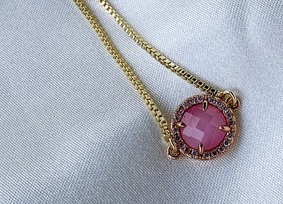 Touch of pink handmade bracelet