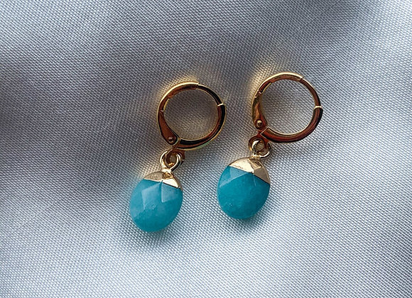 Mini hoops small blue