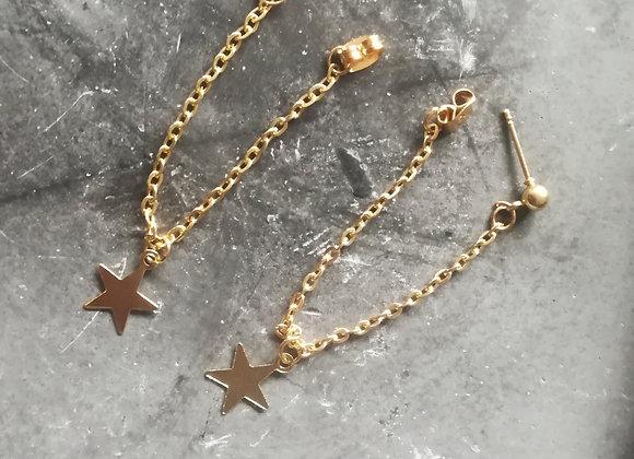 Long stars oorbel