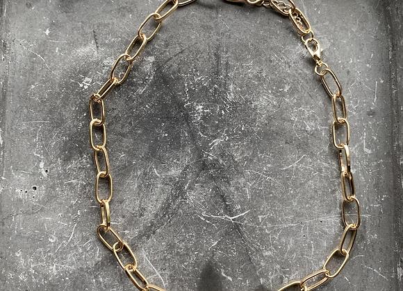 Gouden schakel ketting