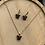 Thumbnail: Vlinder ketting oorbel set