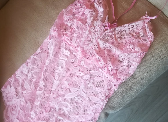 Sweet pink lace body