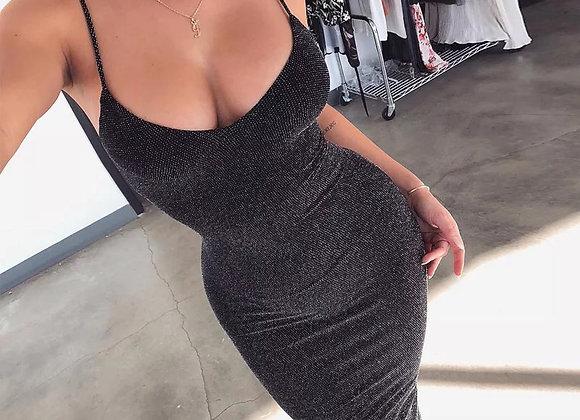 Glitter bodycon jurk