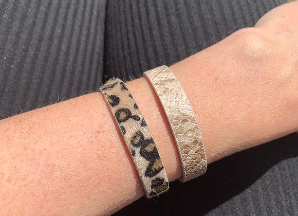 Leopard print bracelet handmade