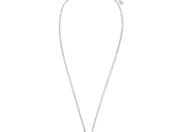 Single silver shell necklace