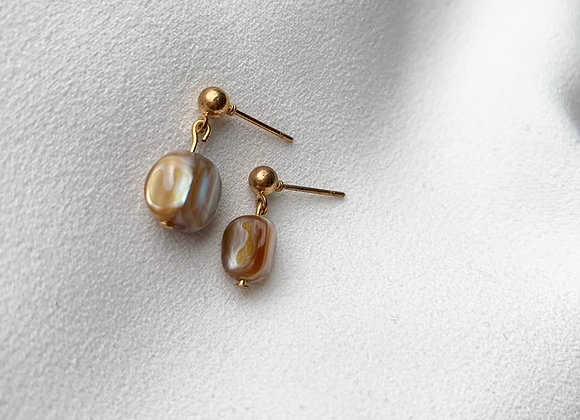 Knopjes brown pearl