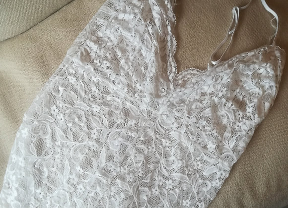 Angel white lace body