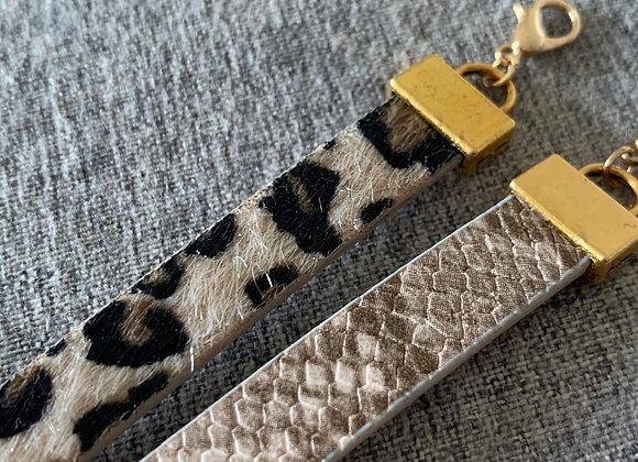 Snake print bracelet handmade